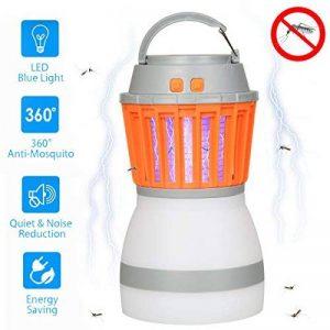KidsHobby Lampe Camping anti Moustique, 2 en 1 anti Moustiques Lanterne Tente Lumière IP67 Imperméable USB de Charge Zapper Lampe pour le Camping en Plein Air Randonnée et Urgences de la marque KidsHobby image 0 produit