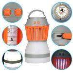 KidsHobby Lampe Camping anti Moustique, 2 en 1 anti Moustiques Lanterne Tente Lumière IP67 Imperméable USB de Charge Zapper Lampe pour le Camping en Plein Air Randonnée et Urgences de la marque KidsHobby image 3 produit