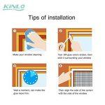 KINLO Moustiquaire Auto-Adhésif avec Velcro Noir 150*180CM pour Fenêtre en Polyester Rideaux Anti-moustique à Maille Démontable et Lavable plus solide pour chambre de la marque KINLO image 4 produit