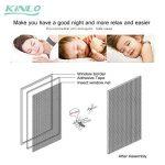 KINLO Moustiquaire Auto-Adhésif avec Velcro Noir 150*180CM pour Fenêtre en Polyester Rideaux Anti-moustique à Maille Démontable et Lavable plus solide pour chambre de la marque KINLO image 1 produit