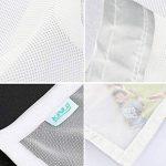 KINLO Moustiquaire pour Fenêtre 100 x 130 cm Protection Anti-insectes Anti Mosquito Auto-Adhésif Rideau avec 2 Rubans Autocollants Polyester Facile à Installer Elavable Amovible - Fil Blanc Velcro Blanc de la marque KINLO image 3 produit