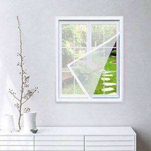 KINLO Moustiquaire pour Fenêtre 100 x 130 cm Protection Anti-insectes Anti Mosquito Auto-Adhésif Rideau avec 2 Rubans Autocollants Polyester Facile à Installer Elavable Amovible - Fil Blanc Velcro Blanc de la marque KINLO image 0 produit