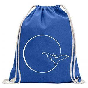 Kiwistar Lune avec batte Fun sac à dos sport sac de remise en forme Gymbag shopping coton avec cordon de la marque Kiwistar image 0 produit