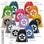 Kiwistar Lune avec batte Fun sac à dos sport sac de remise en forme Gymbag shopping coton avec cordon de la marque Kiwistar image 1 produit