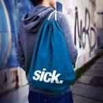 Kiwistar Lune avec batte Fun sac à dos sport sac de remise en forme Gymbag shopping coton avec cordon de la marque Kiwistar image 3 produit