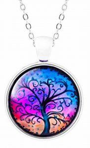 klimtart–Collier élégant avec Style vollem Verre Pendentif–Arbre de Vie violette de la marque Klimisy image 0 produit