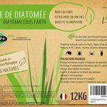 L'herbe Haute Terre de Diatomée Alimentaire Blanche -12KG- Utilisable en Agriculture Biologique - Haute pureté sans Traitement Ni adjonction - Élimine Puces, punaises de Lit, poux. Nombreux Usages de la marque L'herbe Haute image 1 produit