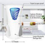 Lampe Anti-moustique, Destructeur de Moustique Fochea Piège à Insectes Volants avec Ventilateur Aspirateur sans Radiation Non Toxique Répulsif Insectes Volants 17.6*17.6*31.4cm pour 40 m² de la marque Fochea image 1 produit