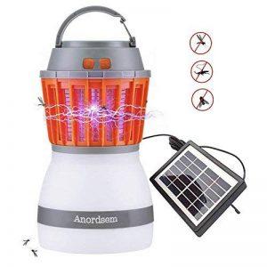 Lampe Anti-moustique Lanterne pour Camping Rechargeable avec Bug Zapper Fonction USB de Charge et de Charge Solaire pour le Camping en Plein Air Randonnée, Contrôle des Moustiques de la marque Anordsem image 0 produit
