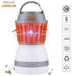 Lampe Anti Moustique LED Solaire Portable à Batterie USB Rechargeable - Lanterne électrique 280 LM Étanche IP67 Tueur de Moustiques à Ampoule Ultraviolet - Intérieur ou Extérieur Tente, Camping ou Randonnées de la marque LABSELLER image 1 produit