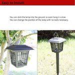 Lampe solaire de jardin PRUNUS : anti-insectes et résistante à l'eau Double fonction : anti-insecte et lampe de jardin(Il peut justement être utilisé la nuit)(Il supporte le chargement solaire justement en mode WHITE/UV) de la marque PRUNUS image 3 produit