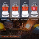 Lanterne Camping Tente LED Lampe Anti Moustique, Bawoo Lampe Torche Randonnée Anti Moucheron Etanche IP67 Rechargeable Batterie 2200mAH Abat-jour Amovible 3 Luminosité Avec USB Câble de la marque Bawoo image 1 produit