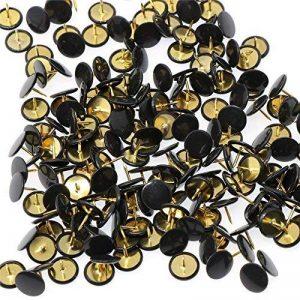 Lanxi 300 pièces de punaises couleurs 10mm*10mm Epingles pour bureau, photos, notes, peinture (noir) de la marque Lanxi image 0 produit