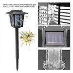 LED Solaire Moustique Tueur Économiseur d'énergie étanche, piège à insectes LED Noir Eclairage Extérieur Lampe Anti-moustique Parfait pour Jardin Patio Pelouse Maison Cour de la marque Zerodis image 1 produit