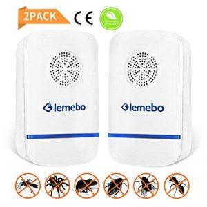 Lemebo Répulsif Electronique Ultrason Plug en Pest Reject pour moustiques,souris, fourmis,filtres Raw,araignées,mouches,insectes,lézards,non toxique, respectueux de l'environnement, humains (Blanc) de la marque Lemebo image 0 produit