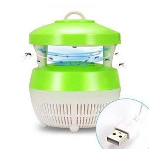 Lemonbest Lampe de tueur de moustique de LED, insecte Zapper léger portatif mouche Piège électrique d'éclairage allumeur anti-parasite de guêpe avec le câble d'USB (vert clair) de la marque Lemonbest image 0 produit