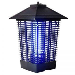 LIANGLIANG Lampe Anti-moustique Les Ondes Lumineuses UV Attirent Le Choc Électrique Extérieur Imperméable À L'eau Choc Électrique Moustique Lampe Métal Noir,24 * 24 * 40cm de la marque LIANGLIANG-deng image 0 produit