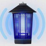 LIANGLIANG Lampe Anti-moustique Les Ondes Lumineuses UV Attirent Le Choc Électrique Extérieur Imperméable À L'eau Choc Électrique Moustique Lampe Métal Noir,24 * 24 * 40cm de la marque LIANGLIANG-deng image 2 produit