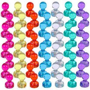 Lictin 56 Aimants Punaises Magnétiques de 7 couleurs, Aimants puissants pour le Frigo, le Tableau Blanc, Réfrigérateurs de la marque Lictin image 0 produit