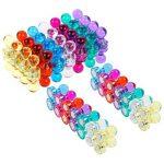 Lictin 56 Aimants Punaises Magnétiques de 7 couleurs, Aimants puissants pour le Frigo, le Tableau Blanc, Réfrigérateurs de la marque Lictin image 1 produit