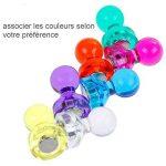 Lictin 56 Aimants Punaises Magnétiques de 7 couleurs, Aimants puissants pour le Frigo, le Tableau Blanc, Réfrigérateurs de la marque Lictin image 2 produit