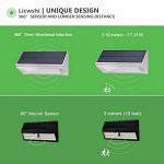 Licwshi 1100 lumens lampe solaire 48LED 4500mAh avec coque en alliage d'aluminum, imperméable en plein air, radar-détection de mouvement, s'appliquant au porche, jardin, cour, garage - lumière blanche(2018 nouvelle version-1 Pack) de la marque image 2 produit