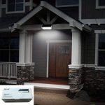 Licwshi 1100 lumens lampe solaire 48LED 4500mAh avec coque en alliage d'aluminum, imperméable en plein air, radar-détection de mouvement, s'appliquant au porche, jardin, cour, garage - lumière blanche(2018 nouvelle version-1 Pack) de la marque image 4 produit