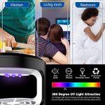 LifeBasis Lampe Anti-Moustique, LED Anti-Insectes avec USB, Piège Électronique de Moustique, Non Chimique pour Chambre(Noir) de la marque LifeBasis image 4 produit