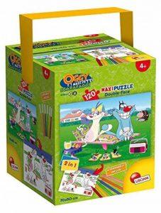 Lisciani jeux 52905–Puzzle in a Tub Maxi Oggy Oggy et les Cafards, 120pièces, multicolore de la marque Lisciani Giochi image 0 produit
