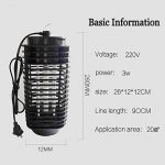 Longhui Mosquito Killer LED Electric Bug Zapper Lamp Anti Mosquito Repeller Electronic Mosquito Trap Repellent de la marque Longhui image 3 produit