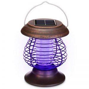 Longra Énergie solaire Lampes de tueur de moustique Lampe portative de moustique électrique Lampe UV Tue-Mouches Destructeur d' Insectes Electrique Tue Mouche Electrique Lampe Insecte (Marron) de la marque Longra Home image 0 produit