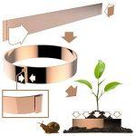 Longyee (TM) 10x Cuivre limace Bio protection Band Anneaux 17,8cm/17.5cm Diamètre pour repousser les limaces Escargots 5,1cm/5cm Hauteur (10, D175X 50mm Bague) de la marque LONGYEE image 1 produit