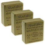 Lot 3 Savons de Marseille Traditionnels Vert Huile Olive 3 x 150g Rampal Latour de la marque Rampal Latour image 1 produit