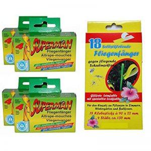 Lot de 24contre les insectes nuisibles. 16Papier tue-mouche Roulettes Panneaux, Stickers attrape-insectes, attrape-mouche avec 18Jaune Jaune Anti Insectes respectueux de l'environnement, non toxique de la marque all-around24® image 0 produit