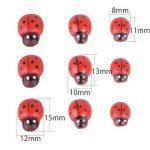 Lot de 300 Mini Coccinelle Bois Autocollant Sticker Rouge en Trois Tailles Bonheur pour Bricolage DIY Decoration Maison(100pcs par chaque taille) de la marque DEOMOR image 1 produit