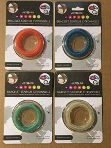 Lot de quatre bracelets extensibles répulsifs anti moustique à la citronnelle - génial pour les enfants comme pour les adultes de la marque Equilibre et Aventure image 0 produit