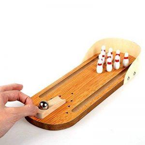 Lovetree Mini Bureau Table de bureau de bowling Set de jeu en bois de la marque Lovetree image 0 produit