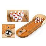 Lovetree Mini Bureau Table de bureau de bowling Set de jeu en bois de la marque Lovetree image 2 produit