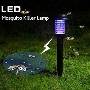 Lumière solaire Extérieure insectes/Bug Zapper/Mosquito Killer- suspendre ou bâton dans le sol, jardin, lumière de la marque Tookie image 0 produit