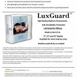 Luxguard élégant tissé, matelas anti-acariens, punaises de lit, allergènes, acariens protection–Taille: Super king size (Royaume-Uni) 182,9x 200,7x 30,5cm–183cm x 198cm x 30cm de la marque Eco Living Friendly (ELFbrands) image 4 produit