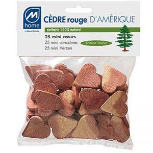 M-Home | Lot de 25 Cœurs Antimites | Cèdre Rouge d'Amérique de la marque Mondex image 0 produit