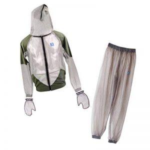 MagiDeal Combinaison Anti Moustiques Insecte Veste à Capuche Pantalon Vêtements Gants Protection pour Pêche Randonnée Camping de la marque MagiDeal image 0 produit
