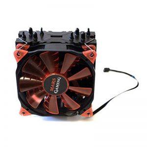 Mars Gaming mcpu3+–Gaming pour ordinateur dissipateurs ventilateur 12cm, 150W, éclairage lED, 8–20DBA, traitement nano-cerámico, support AM4, noir de la marque Mars Gaming image 0 produit