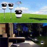 MeetUs Lampe anti-moustique de puissance solaire sans fil, modes IP54 et 2 imperméables, lampe moustique d'insecte d'insecte d'insecte extérieure extérieure d'insecte pour le camping, la pêche ou la randonnée de la marque MeetUs image 1 produit
