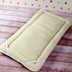 Merino Surmatelas réversible 100% laine mérinos PERUGIANO Épais 70 x 140 cm-Lit d'agneau de la marque Merino Wool Uk image 3 produit