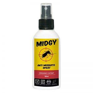 MIDGY Spray anti moustique 100% naturel 100ml pour enfants et adultes| Aérosol anti moustique pour la maison| Spray anti moustique de la marque MIDGY image 0 produit