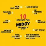 MIDGY Spray anti moustique 100% naturel 100ml pour enfants et adultes| Aérosol anti moustique pour la maison| Spray anti moustique de la marque MIDGY image 3 produit