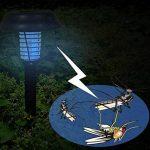 Moonuy Anti-Mosquito Insectes Lumière Moustique Solar Powered LED Light Mosquito Pest Bug Killer Lamp Garden Lawn Allumant la Lumière Actionnée par énergie Solaire Contrôle des Moustiques (Noir) de la marque Moonuy _light image 2 produit
