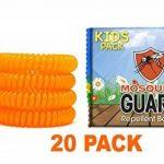 Mosquito Guard - Bracelet répuslif pour moustiques/ Bracelets pour les enfants (20 par boîte) 100% naturel, citronnelle ,geraniol , huile de citron, NON TOXIQUE et sans DEET. Répulsif à insectes de la marque Mosquito Guard image 2 produit