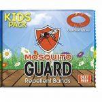 Mosquito Guard - Bracelet répuslif pour moustiques/ Bracelets pour les enfants (20 par boîte) 100% naturel, citronnelle ,geraniol , huile de citron, NON TOXIQUE et sans DEET. Répulsif à insectes de la marque Mosquito Guard image 1 produit
